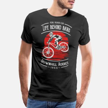 Does Downhill Bicycle Addict - Cycling Design - Men's Premium T-Shirt