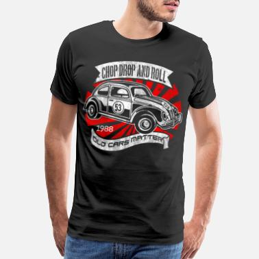 Rally Racing Chop Drop And Roll - Vintage Graphic Design - Men's Premium T-Shirt