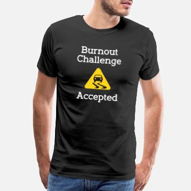 Christmas Motif Burnout Challenge Accepted Car Sports Car Race - Men's Premium T-Shirt