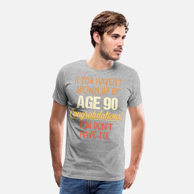 Funny 90th Birthday Gift Design 90 Years Old Mens Premium T Shirt