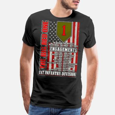 1st Infantry Division 1st Infantry division - The big red one - Men's Premium T-Shirt