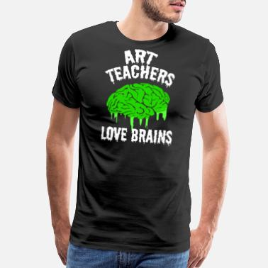 Brain Art Art Teachers Love Brains - Men's Premium T-Shirt