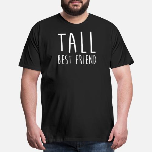 Cute Tall Short Best Friend Matching Shirt Mens Premium T Shirt