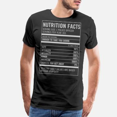 Thin Blue Line Canada Police Officer in American Nutrition facts - Men's Premium T-Shirt
