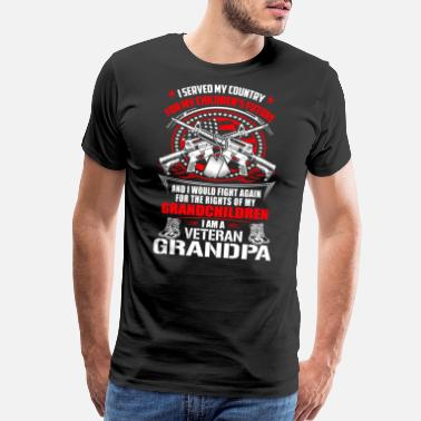 Vietnam Veteran Air Force Veteran grandpa - I served my country for future - Men's Premium T-Shirt