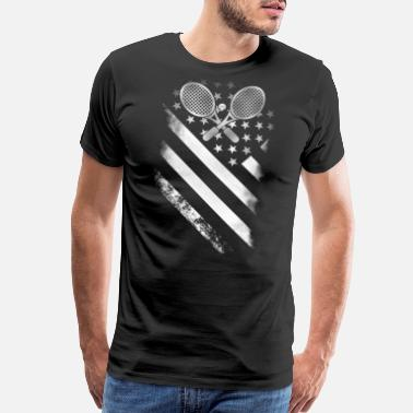 I Love Hong Kong Tennis player - Tennis American flag - Men's Premium T-Shirt