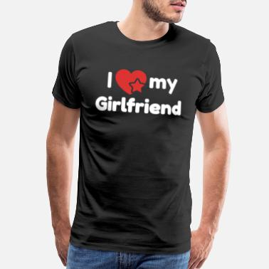 Queen Loves Her King I love my Girlfriend T-Shirt - Men's Premium T-Shirt