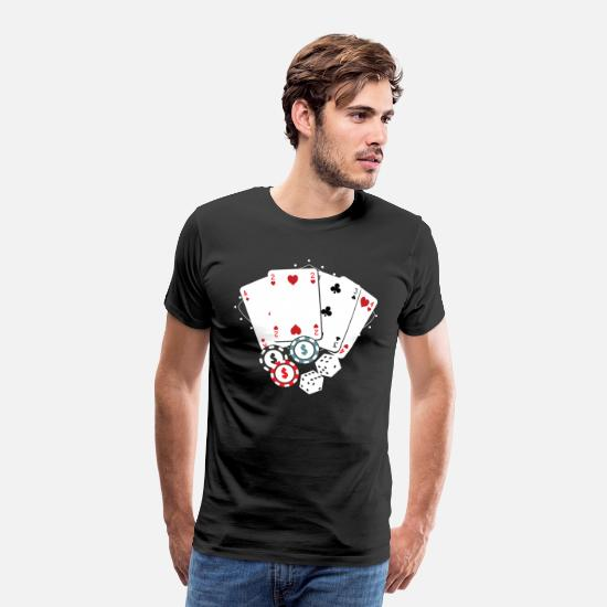 Easter T-Shirts - Poker Card - Game Full house Gift casino - Men's Premium T-Shirt black