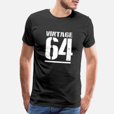 54th Birthday T-Shirt Born In 1964 Mens Present Gift Age Aged to Perfection