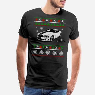 Ugly Sports Sport car Ugly Christmas Sweater - Men's Premium T-Shirt