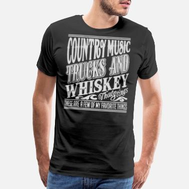 Country Music Fan Country music - Awesome t-shirt for fans - Men's Premium T-Shirt