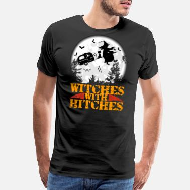 Get Hitched Witches With Hitches Funny Halloween T-shirt Tee - Men's Premium T-Shirt