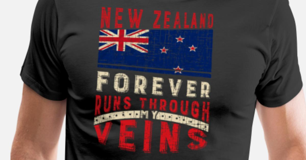 New Zealand Christmas Birthday Gift Idea Mens Premium T Shirt