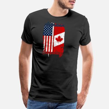 San Francisco Half USA Half Canadian Home Gift Idea - Men's Premium T-Shirt