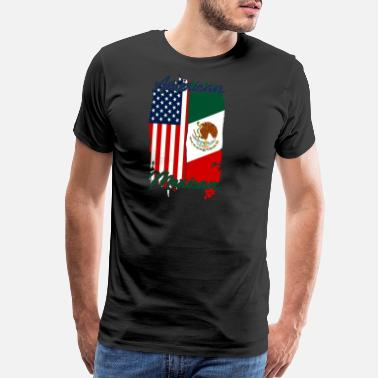 Cancun Half USA Half Mexican - Men's Premium T-Shirt