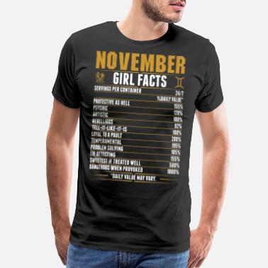 November Born Facts November Gemini Girl Facts Tshirt - Men's Premium T-Shirt