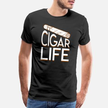 Cigar Cigar Smoker Life Design Graphic Shirt - Men's Premium T-Shirt