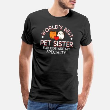 Cat Breeds Best Pet Sitter Fur Kids Cat Dog Sitter - Men's Premium T-Shirt