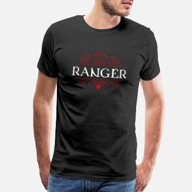 Diced Ranger Character Class Tabletop RPG Gaming - Men's Premium T-Shirt