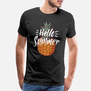 Summer hello summer pineapple - Men's Premium T-Shirt