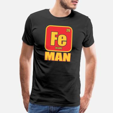 Funny Chemist Iron Man Funny Costume Metal Element Gift - Men's Premium T-Shirt