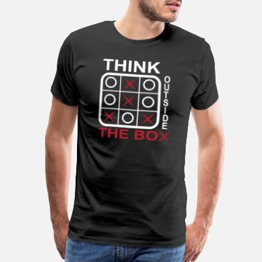 Tic Tac Toe Tic Tac Toe Denk Outside Free Play Gift - Men's Premium T-Shirt