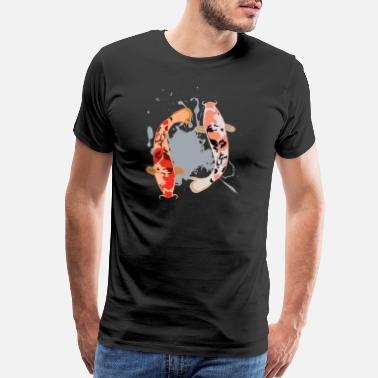 Far East Koi carp Nishikigoi Yin and Yang - Men's Premium T-Shirt