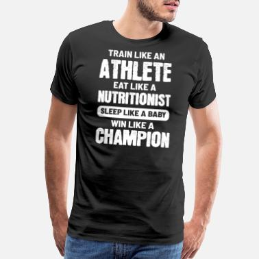 Grim Reaper Athlete Nutrition Win Happy And Goal Oriented Pers - Men's Premium T-Shirt