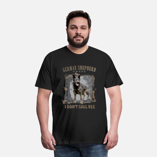 Funny Hair On My Shirt German Shepherd Dog Canine Premium T-Shirt Sizes S 5XL