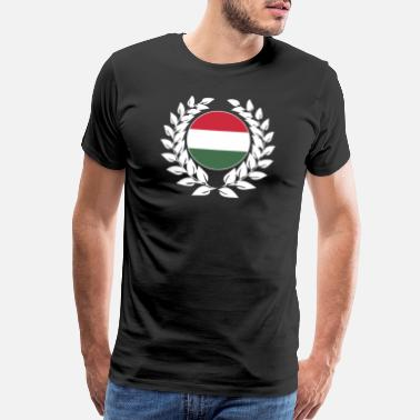Laurel Hungary Hungarian flag laurel wreath - Men's Premium T-Shirt