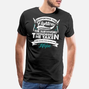 Cervical Cancer Supporting The Fighters Cervical Cancer | Teal - Men's Premium T-Shirt