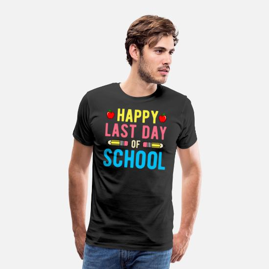 Happy Holidays T-Shirts - Happy Last Day of School T Shirt - Men's Premium T-Shirt black