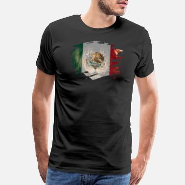 Lion Picture Mexico Flag & African Lion Picture - Men's Premium T-Shirt