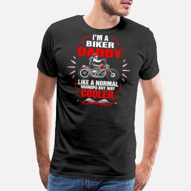 Super Bike Im A Biker Daddy Tshirt - Men's Premium T-Shirt