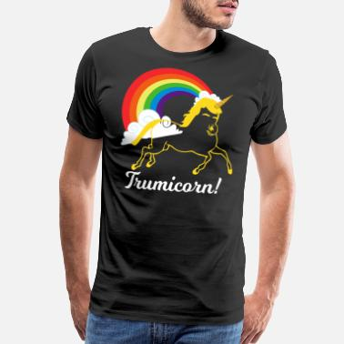 Trumpet-player Trumpicorn Rainbow Funny Unicorn Design - Men's Premium T-Shirt