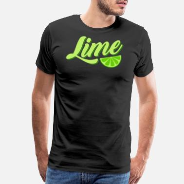 Lime Lime lime fruit fruit light green - Men's Premium T-Shirt
