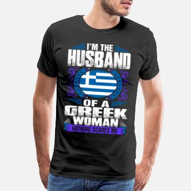 Greek Im Greek Woman Husband - Men's Premium T-Shirt