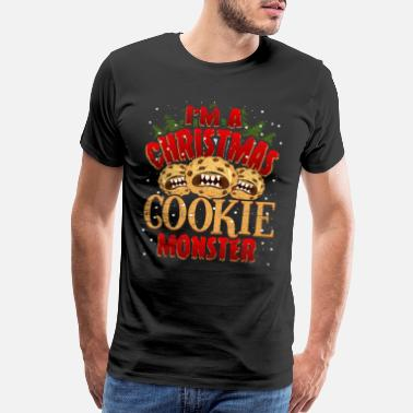 Sugar Cookie Christmas Cookie Monster - Men's Premium T-Shirt