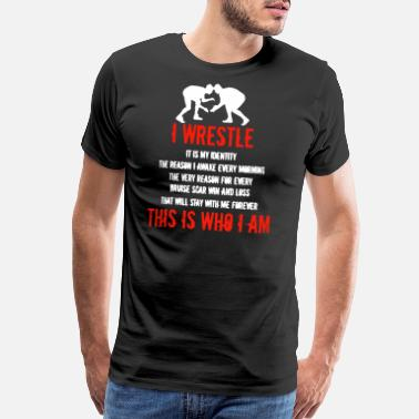 Wrestling Wrestle Shirt - Men's Premium T-Shirt