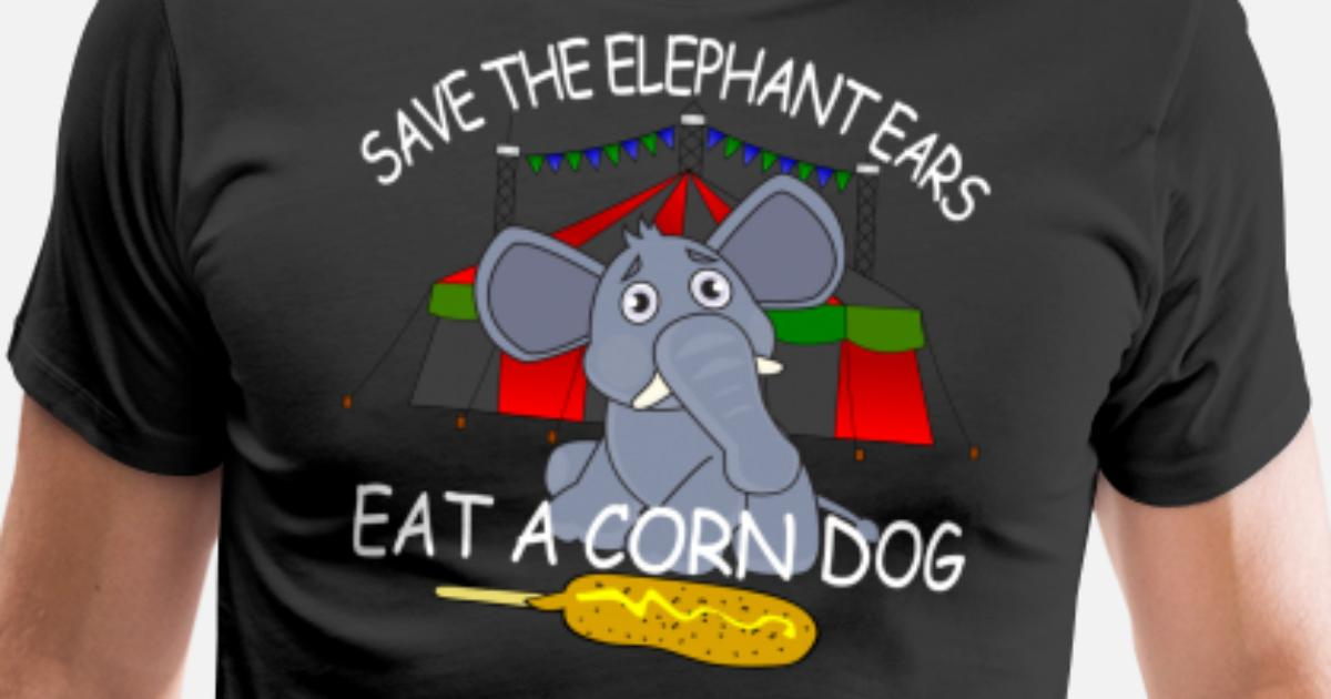 I Like Elephant Corn Dog Snacks Ear Animal Gift Lover Birthday Mens Kids Womens Premium T Shirt
