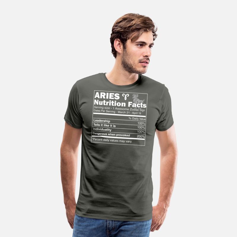 9610d2b4 Aries Nutrition Facts   Aries Horoscope Zodiac Men's Premium T-Shirt    Spreadshirt