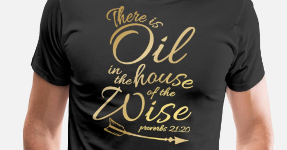6cd5303b There Is Oil - Funny Religious Bible Essential Men's Premium T-Shirt |  Spreadshirt