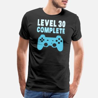 Turn Up Level 30 Birthday Grown Up Gamer Player Videogame - Men's Premium T-Shirt