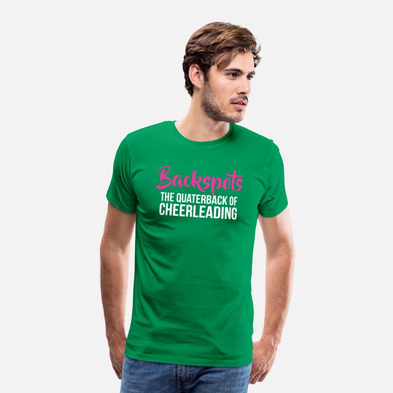 5c257cb2495479 Backspots Cheerleader Tshirts The Quarterback Men s Premium T-Shirt ...