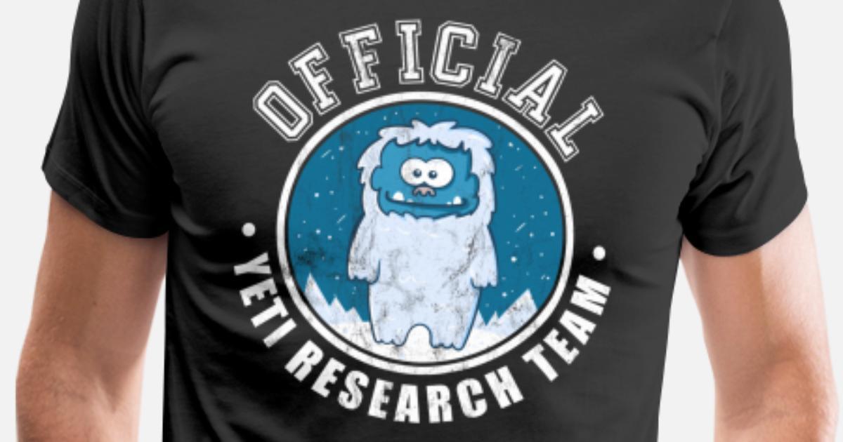 b7fc79846 Men's Premium T-ShirtOfficial Yeti Search Team TShirt Funny Sasquatch.  noirty