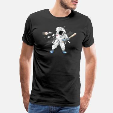 Space Quotes Baseball Astronaut in Outer Space Tshirt Tees - Men's Premium T-Shirt