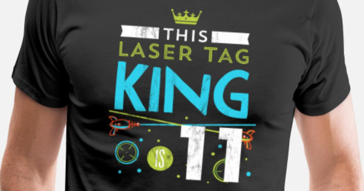 7d2590d82914 11 Year Old Laser Tag King Birthday Party 11th Men's Premium T-Shirt    Spreadshirt