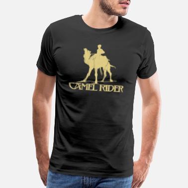 3d52732b Camel rider Shriner Masonic Symbol Freemason - Men's Premium T-Shirt