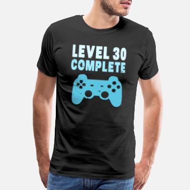 30th Birthday Level 30 Birthday Grown Up Gamer Player Videogame - Men's Premium T-Shirt