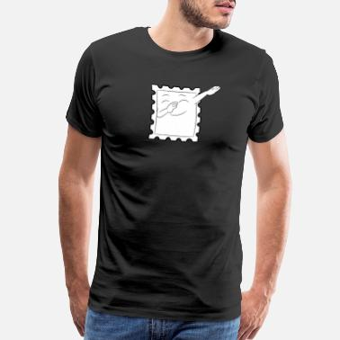 Postmark Philately Dabbing Stamp Gift - Men's Premium T-Shirt